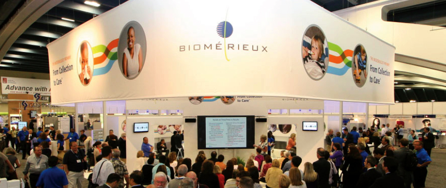 bioMerieux Tradeshow Booth