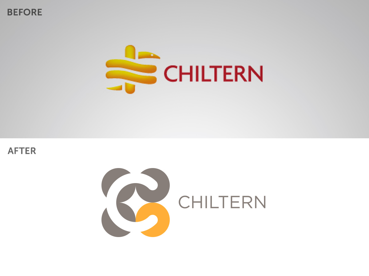 chiltern logo before after