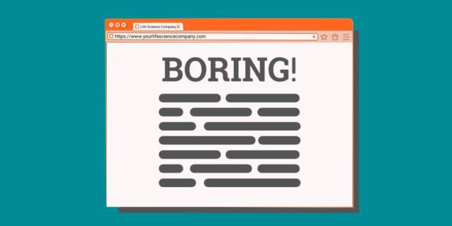 boring content in a browser window